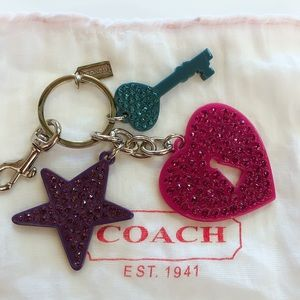 Authentic Coach Rhinestone Keychain